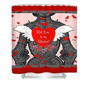 Knight Valentine Shower Curtain