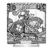 Knights: English, 1527 Shower Curtain