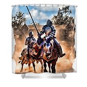 Knights Of Yore Shower Curtain