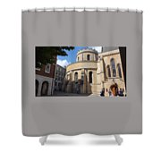 Knights Templar Church- London Shower Curtain