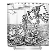 Knights: Tournament, 1517 Shower Curtain
