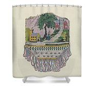 Knit Beaded Bag Shower Curtain