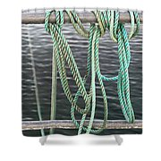 Knot Of My Warf II Shower Curtain by Stephen Mitchell