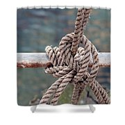 Knot Of My Warf Shower Curtain by Stephen Mitchell
