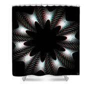 Knotplot 10 - Use Red-cyan 3d Glasses Shower Curtain