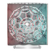 Knotplot 3 - Use Red-cyan 3d Glasses Shower Curtain