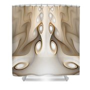 Knots On Wood Shower Curtain