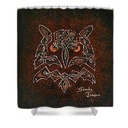 Knotty Owl Shower Curtain