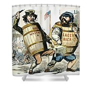 Know-nothing Cartoon Shower Curtain by Granger