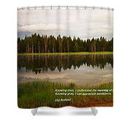 Knowing Trees Shower Curtain