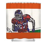 Knowshon Moreno 2 Shower Curtain by Jeremiah Colley
