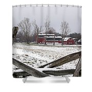 Knox Farm In Winter 0980 Shower Curtain