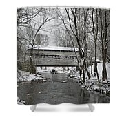 Knox Valley Forge Covered Bridge In Winter Shower Curtain