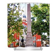 Knoxville Old Courthouse Grounds Shower Curtain