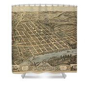 Knoxville Tennessee 1871 Shower Curtain