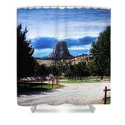 Koa Devils Tower Wyoming Shower Curtain