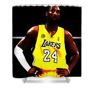 Kobe Bryant Ready For Battle Shower Curtain