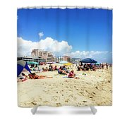 Blue Sky Day In Ocean City Shower Curtain
