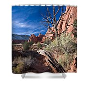 Kodachrome Sunset Shower Curtain