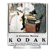 Kodak Advertisement, 1904 Shower Curtain