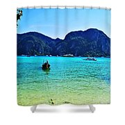 Koh Phi Phi Shower Curtain