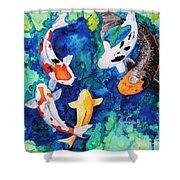Koi Family Shower Curtain