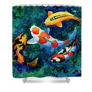 Koi Group Shower Curtain