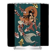Koi Mermaid 2/4 Shower Curtain