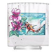 Koi Of The Tropics Shower Curtain