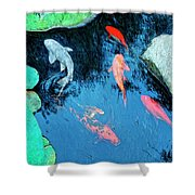 Koi Pond 1 Shower Curtain