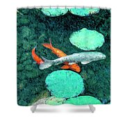 Koi Pond 3 Shower Curtain