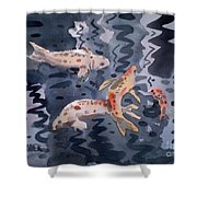 Koi Pond Shower Curtain by Donald Maier