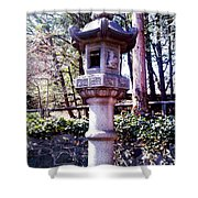 Koi Pond Statue Shower Curtain