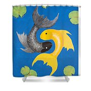 Koi Yin-yang Shower Curtain