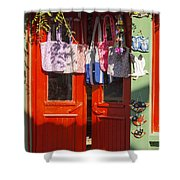Kokina Red Door Shower Curtain