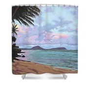 Koko Palms Shower Curtain