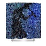 Kokopeli Blues Shower Curtain
