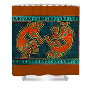 Kokopelli Dancers Shower Curtain