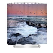 Koloa Sunset Shower Curtain by Mike  Dawson