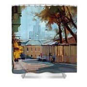 Kolpachny Lane. Autumn Motive. Shower Curtain