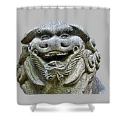 Komainu04 Shower Curtain