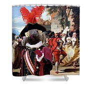 Komondor Art Canvas Print - The Carnival Dance Shower Curtain