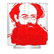 Komrade K Shower Curtain