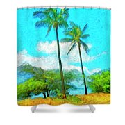 Kona Palms Shower Curtain