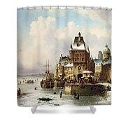 Konigsberg Shower Curtain by Ludwig Hermann