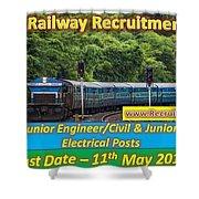 Konkan Railway Recruitment Shower Curtain