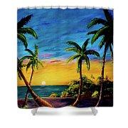 Ko'olina Sunset On The West Side Of Oahu Hawaii #299 Shower Curtain