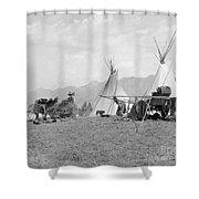 Kootenai First Nations Camp, C.1920-30s Shower Curtain