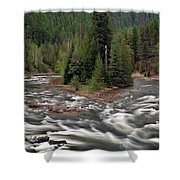 Kootenai River Shower Curtain