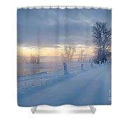 Kootenai River Road Shower Curtain